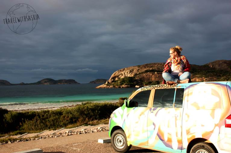 Me and the van at Lucky Bay